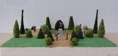Arbres ornement diorama ho face
