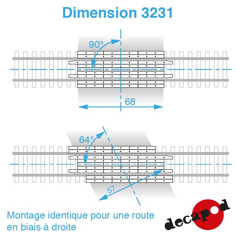 3231 dimension