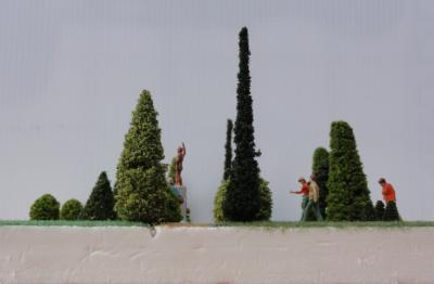Arbres ornement diorama ho profil niveau