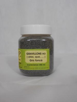 Gravillons gris fonce