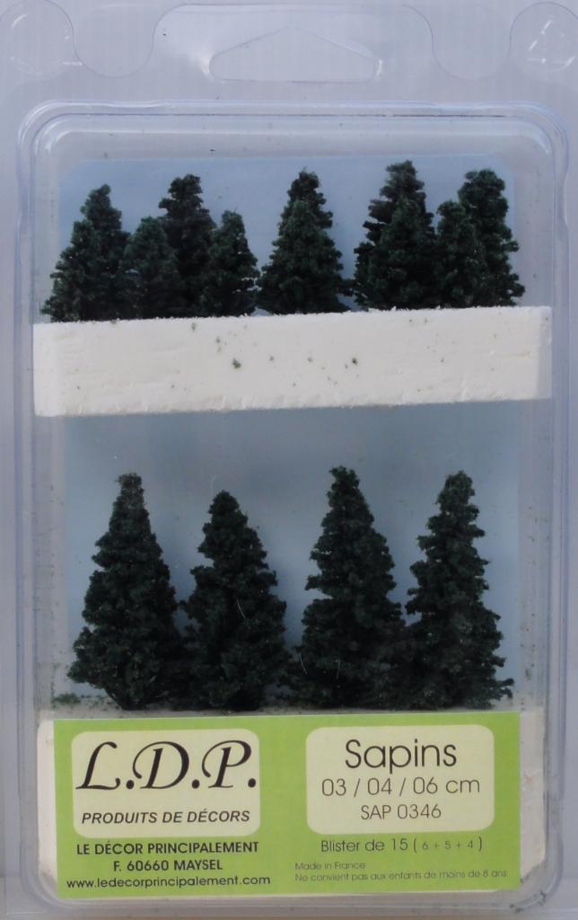 Sapins blister 3 4 et 6 cm