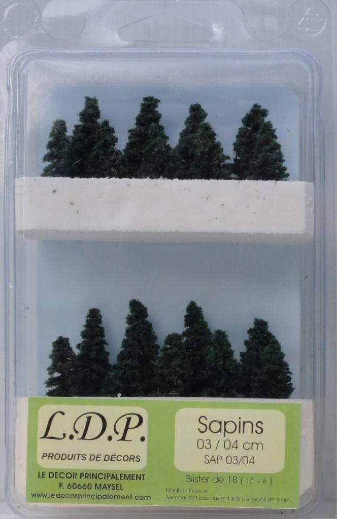 Sapins blister 3 et 4 cm